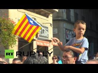 27.09.2014-Ruptly.Каталония официально объявила о проведении 9 ноября 2014 года референдума о независимости.(Дата-27.09.2014г.,1