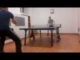 Наш Батюшка играет в настольный теннис))