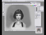 03) Basic edges and dealing with hair (dark)